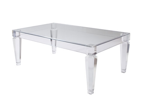 Eugenie coffee table Acrylic clear coffee table