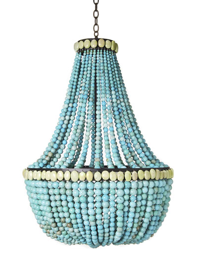 Turquoise empire chandelier aloadofball Choice Image