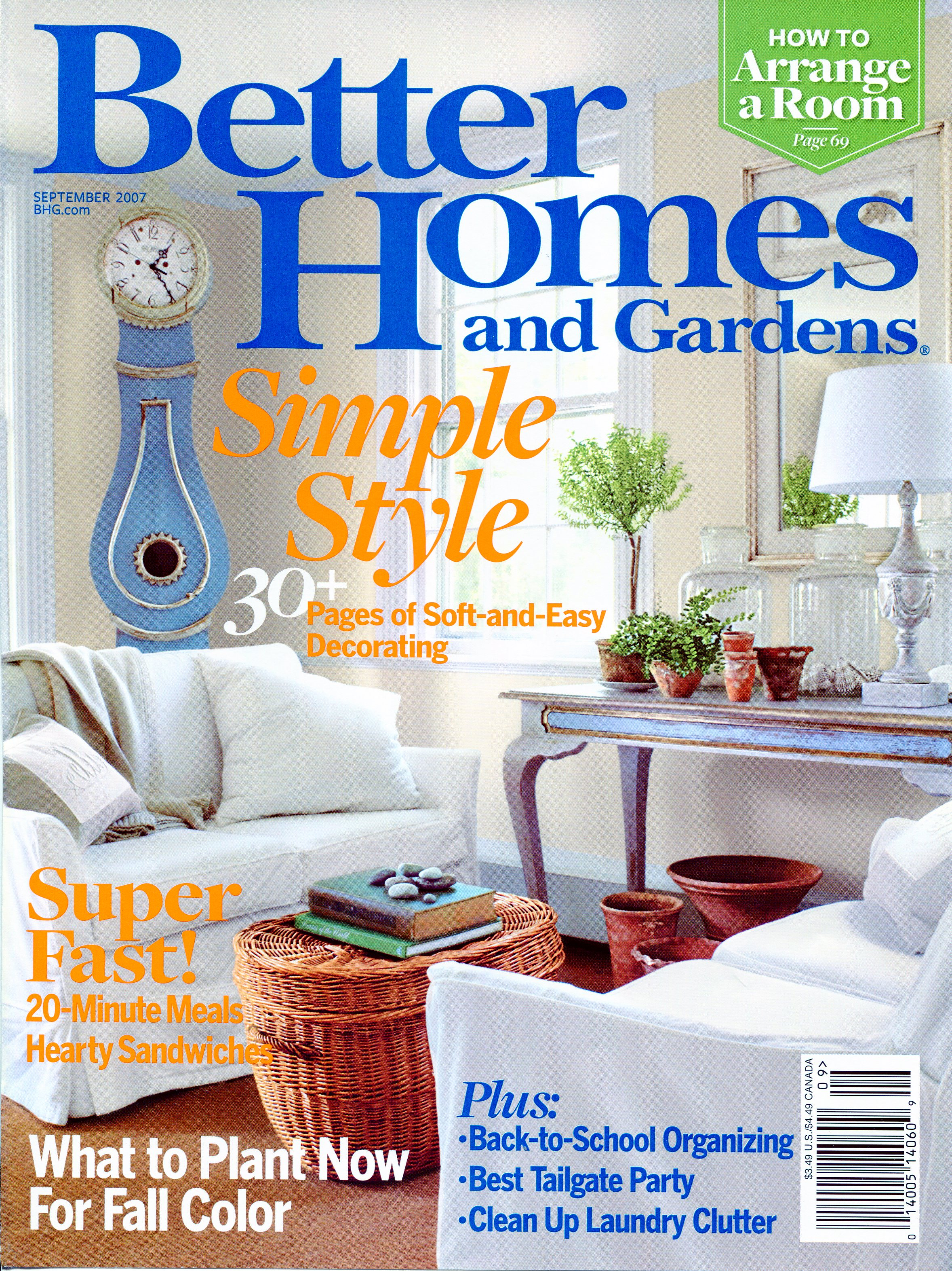 Better homes and gardens september 2007 for Better homes and gardens garden design