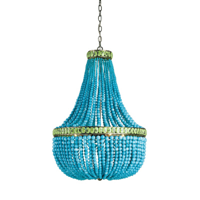 Heady chandelier hedy chandelier turquoise glass aloadofball Choice Image