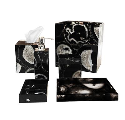 Black & White Agate Bath Accessories